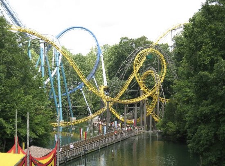 Roller+coasters+Lochness+Monster%2C+Alpengeist%2C+and+Griffin