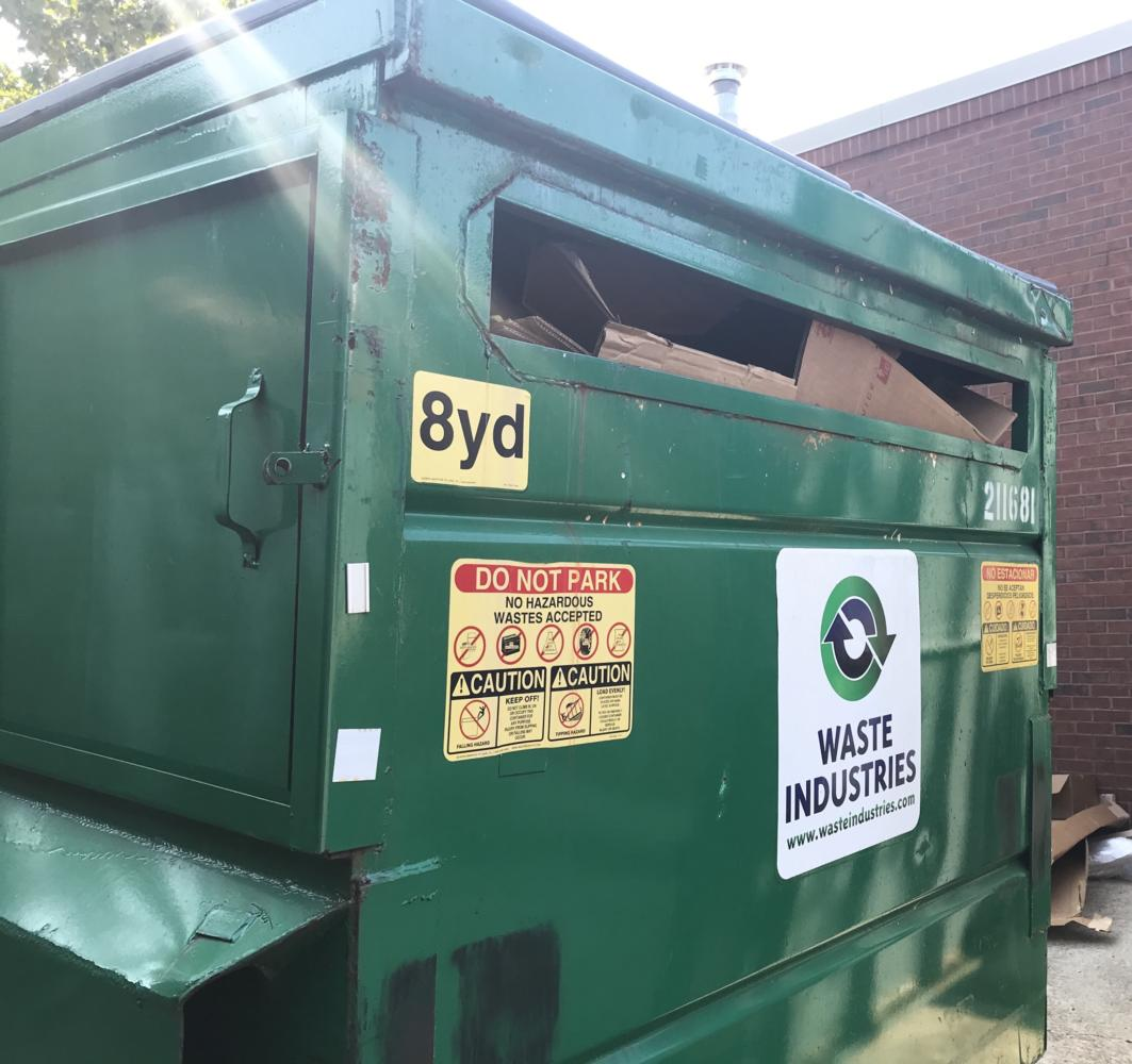 The+recycling+bin+outside+of+Lafayette+High+School+is+used+by+students%2C+teachers%2C+and+staff+every+day+to+help+the+environment.