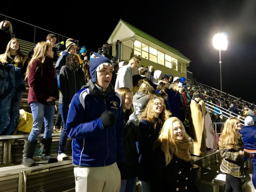 Lafayette's faithful fans came out in the bitter cold Friday night to watch the Rams take on Warhill's Lions in the first round of the playoffs.