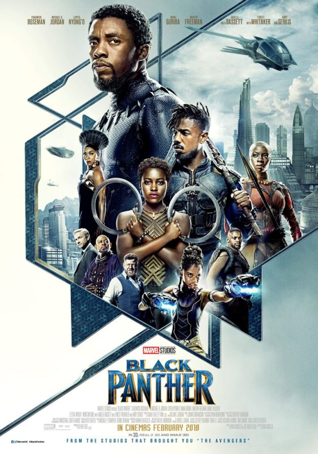 Racial+diversity+shown+with+abundance+on+the+Black+Panther+movie+display.