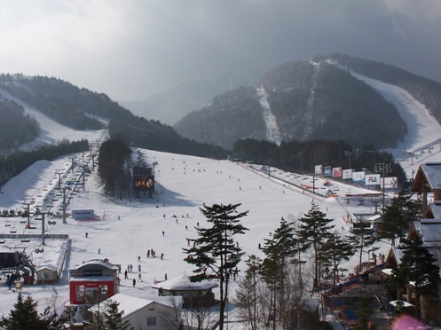 Dragon Valley Ski Slope in Pyeonchang, Korea