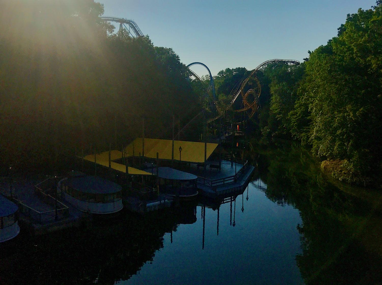 Four of the seven roller coasters can be found bordering the Rhine River featuring Lochness Montster's famous interconnecting loops directly over it.