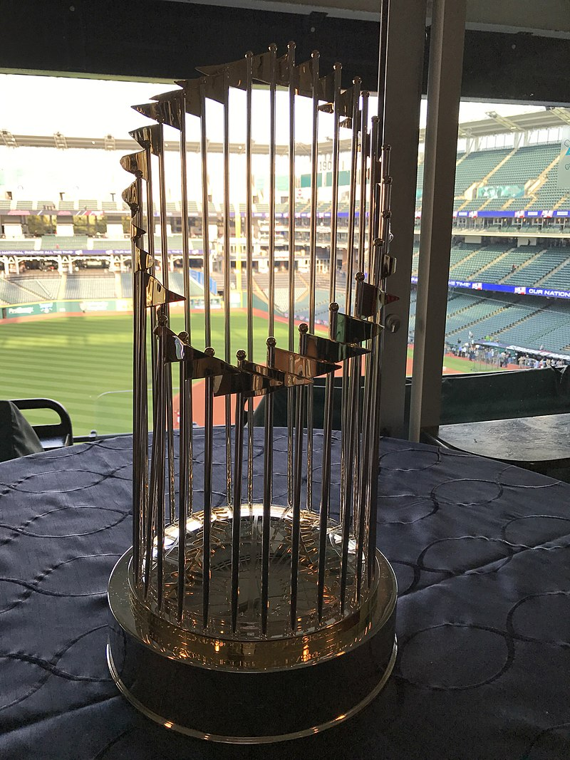 The World Series trophy is something all teams from the NL and the AL have their sights set on.