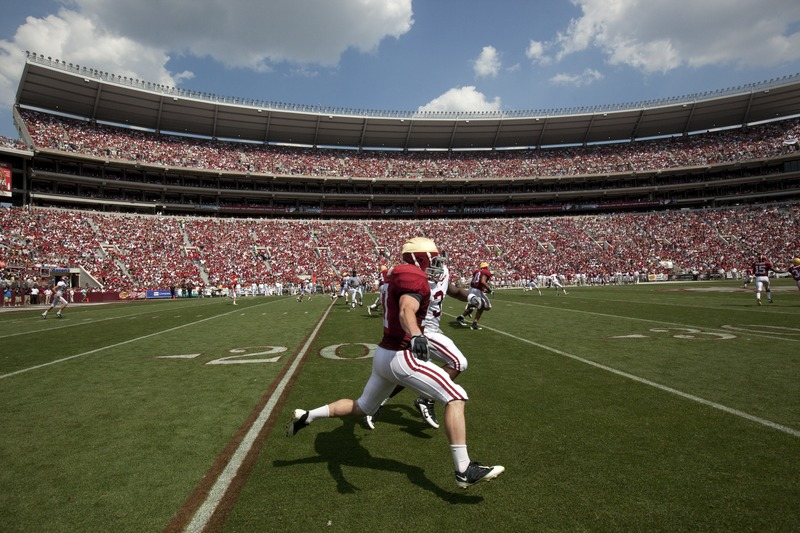 Incredible+point+of+view+as+Alabama+cornerback+tracks+wide+receiver+in+last+seasons+crimson+scrimmage+game