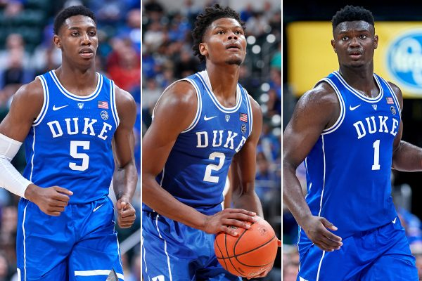 Dukes Freshman Big Three, Barrett (left), Reddish (middle), Williamson (right). https://goo.gl/images/pSfnKt