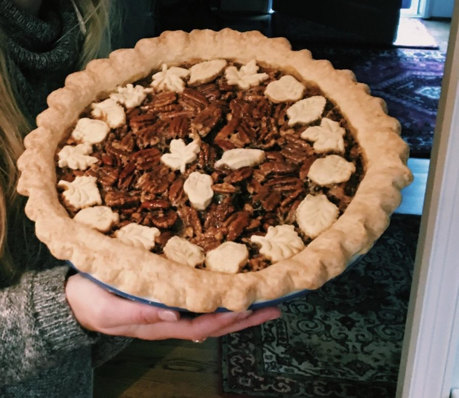 Pie%2C+Pie%2C+Pie%21+Pecan+pie+and+Pumpkin+pie+are+two+popular+pies+enjoyed+on+Thanksgiving+day+after+filling+bellies+with+lots+of+turkey+or+ham%21