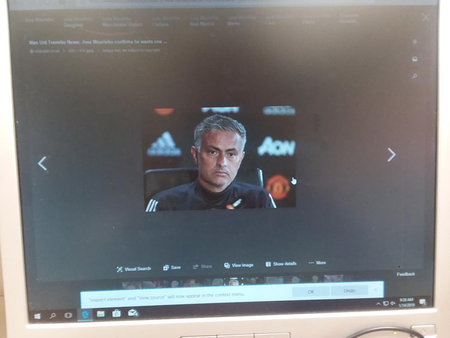 Former Coach Jose Mourhino who had a dismal campaign. And fired a week before Christmas and a godsend to United fans across the globe