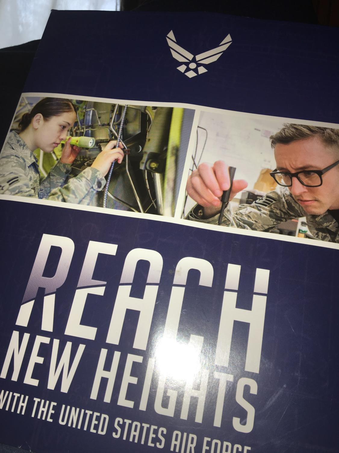 The Air Force recruitment office offers many materials for those who want to find out more about what they have to offer.