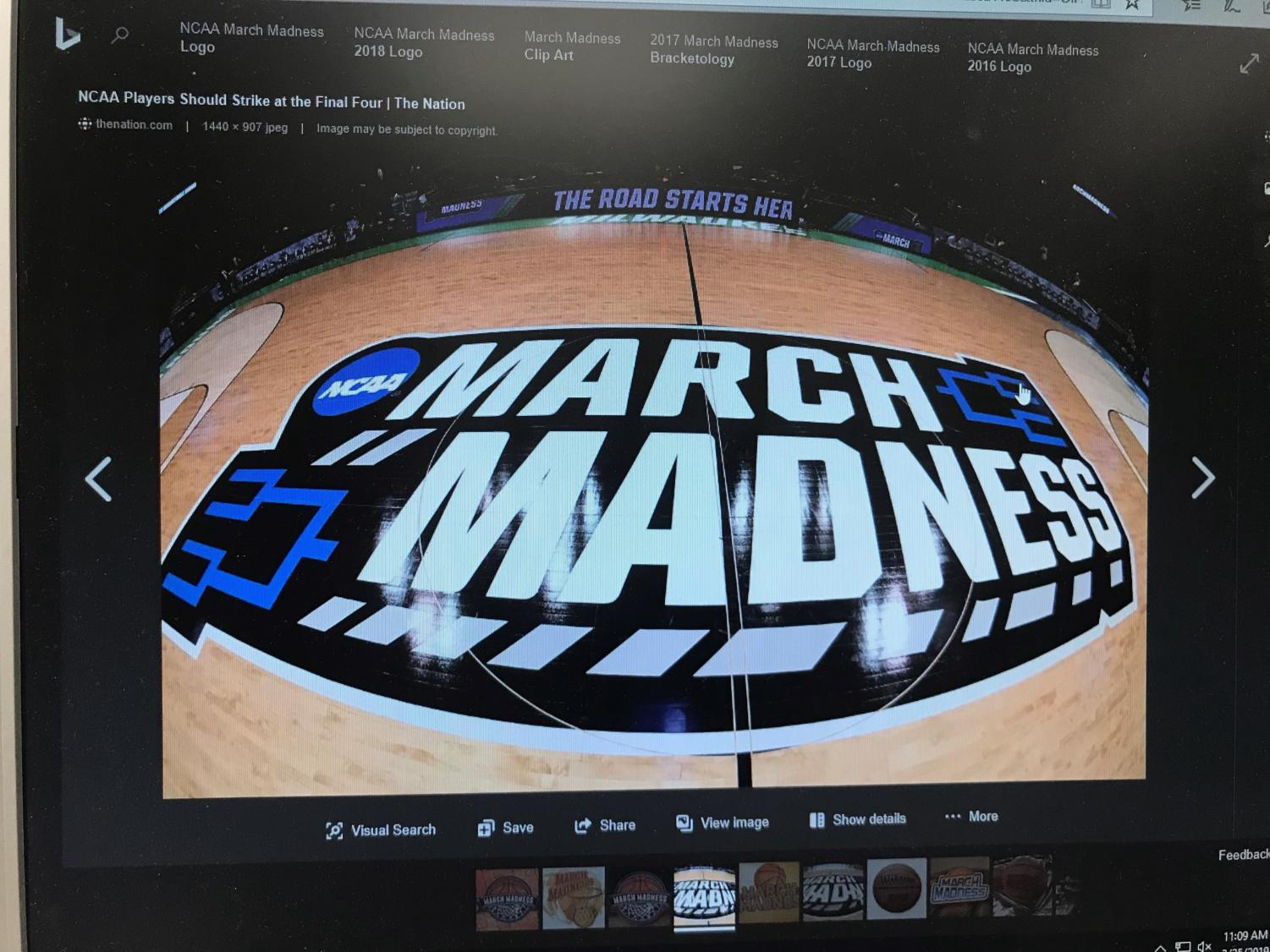 March Madness, the name given to the Men's basketball tournament in March, includes 64 teams from across the country.