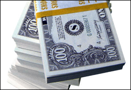 stacks and stacks of money going toward Universal Basic Income