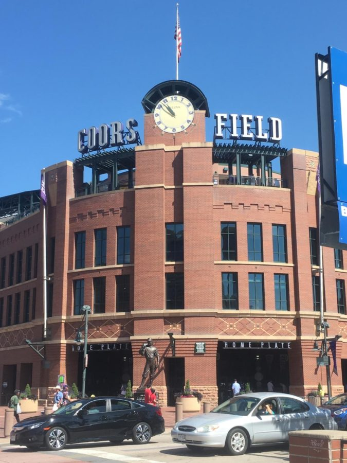 Coors+Field+is+known+for+the+views+from+within+the+park%2C+with+the+Rocky+Mountains+over+the+left+field+grand+stands.
