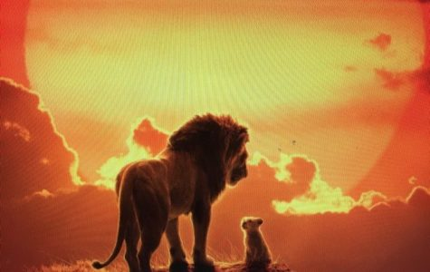 This poster, made for the 2019 remake of The Lion King, can be seen outside of many theaters to entice those passing by.