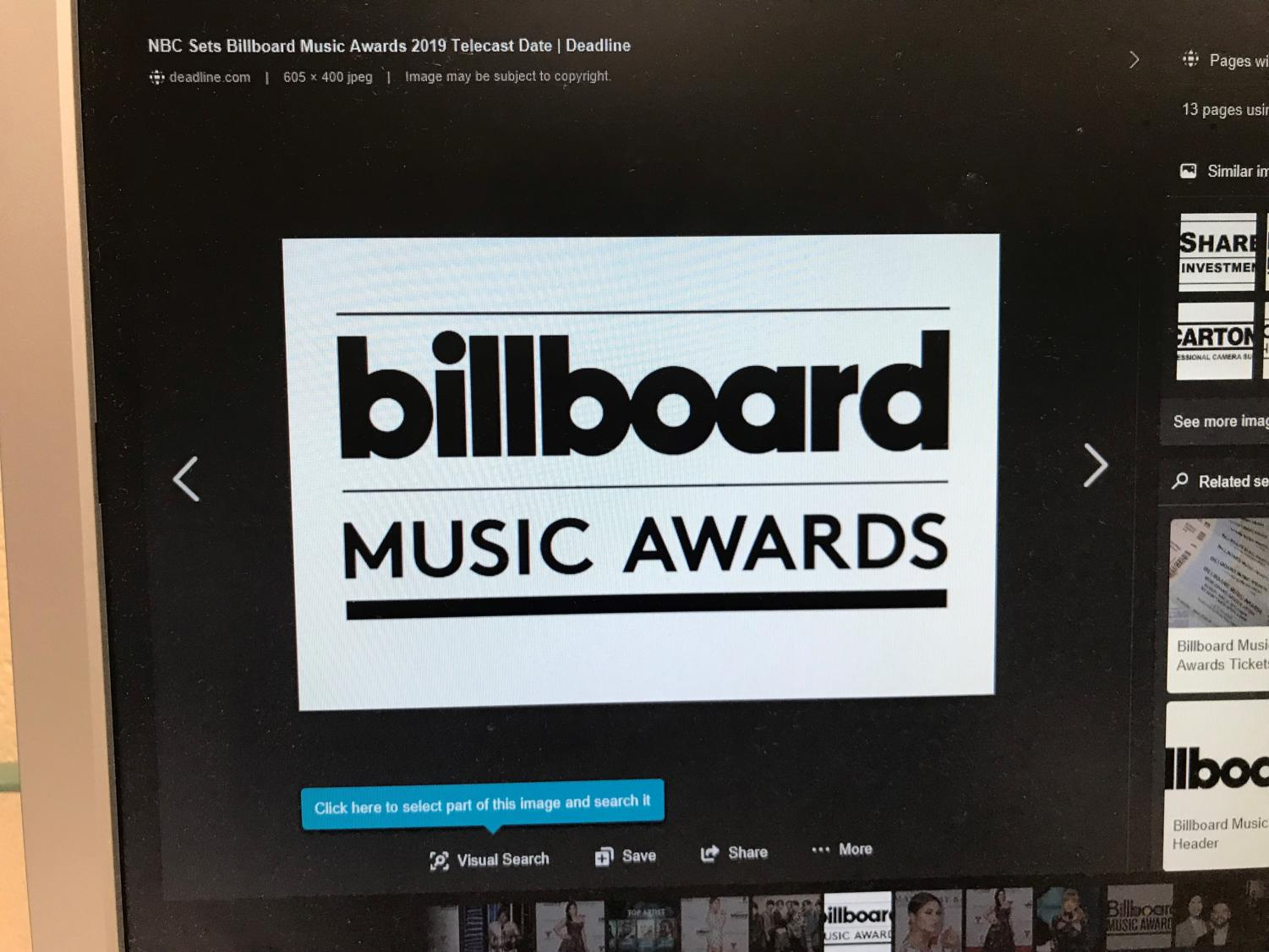 The Billboard Awards are a prestigious music event that happens at the beginning of May.