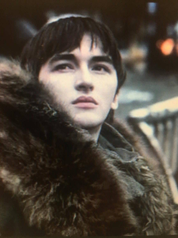 Bran Stark surveys his snowbound predicament