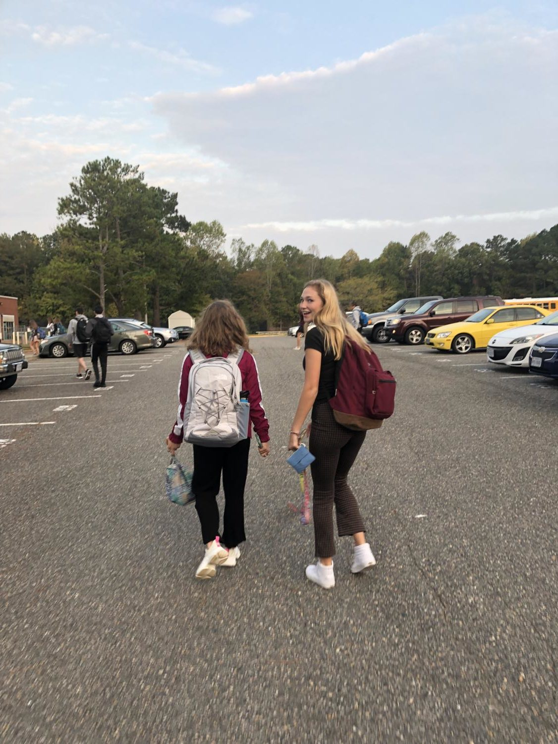 We step outside the car and acknowledge the crisp Autumn air- its only this fresh in the early hours of the morning. The caffeine has yet to show itself; Emma and Genevieve move sluggishly across the parking lot, hoping that the time hits 2:20 before they reach the school doors.
