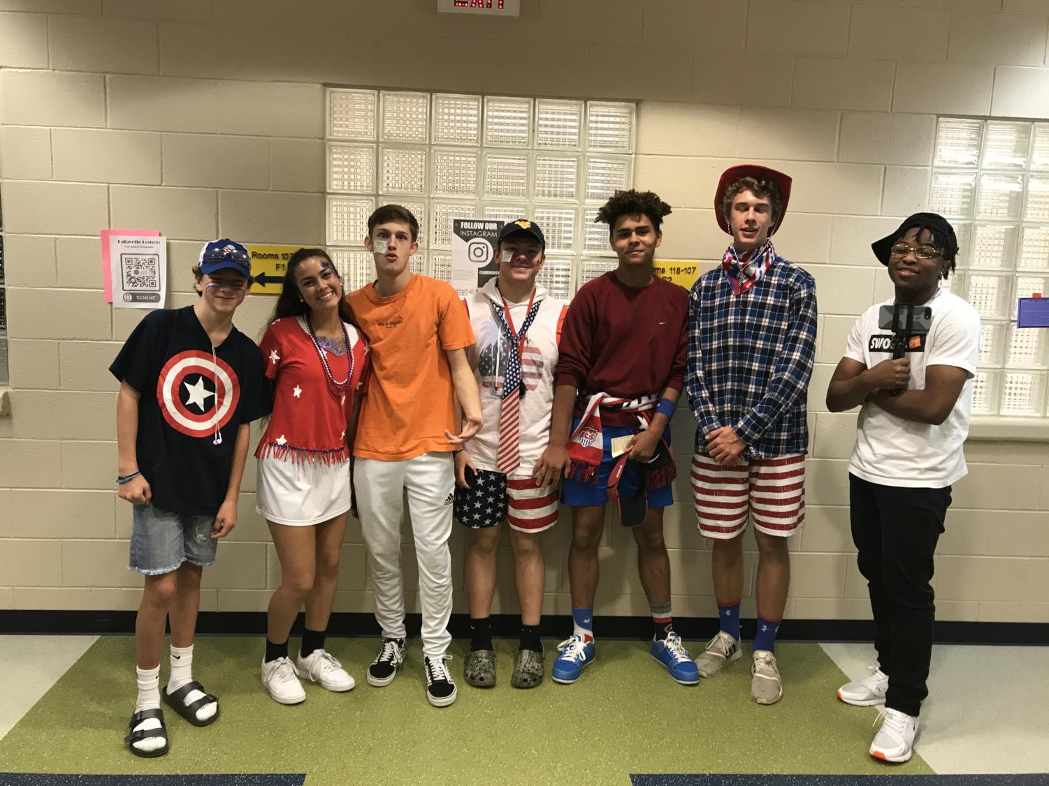 Movie/America Monday spirited students are excited for all the fun Spirit Week brings to the halls of Lafayette.