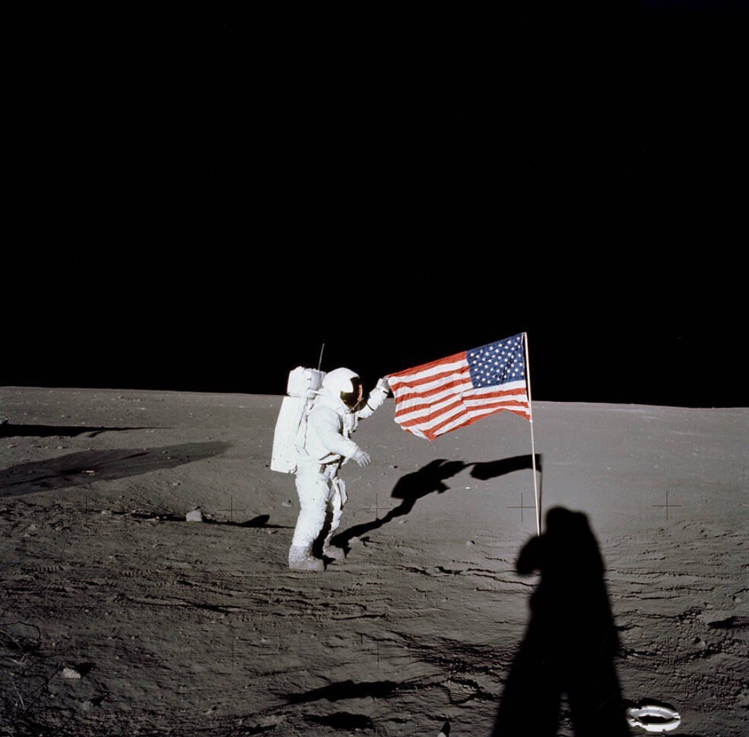 Anyone can pull up a photo of a moonwalk from the 1970's, as this screen shot shows.   To date, only men have planted their feet in lunar soil.  All that is about to change.