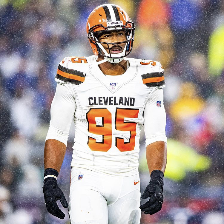 Myles+Garrett+defensive+end+for+the+Browns