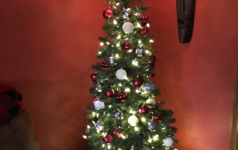 Christmas trees are a very traditional decoration, although many people are now buying fake trees.