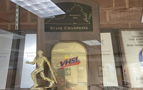 This is the 2019 state championship trophy that the Rams won last season