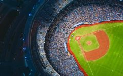 This shows a birds eye view of one of the baseball stadiums that the Astros played at and didn't lose in