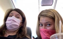 Rylee Vinson, a senior at Lafayette High School, traveled during the pandemic this summer. While on the plane, she was required to wear a face mask at all times to protect herself and others from the virus.