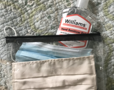 Its important to stay prepared with masks, try keeping a small bag filled with a couple in an easy access place like your car, purse, or by the front door.