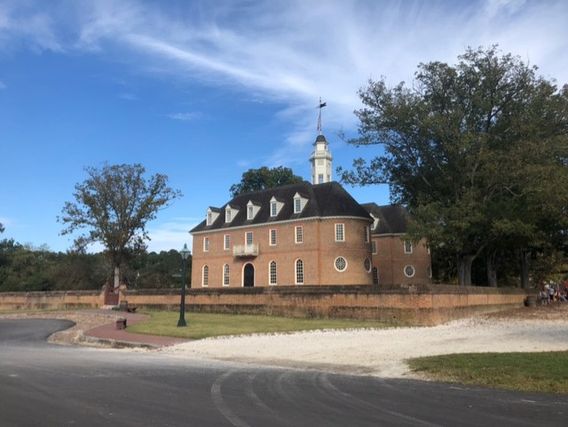 The Capital Building located in Colonial Williamsburg was the main government building for the state of Virginia from 1699-1781.  Located on the east end of Duke of Gloucester street, the capital is one of the major landmarks in Colonial Williamsburg.