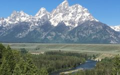 The midday view of the Grand Tetons. Overall, the mountain range is around 40 miles. If you go far enough along, it eventually leads into a great area for whitewater rafting, one of the most exciting things to do here.