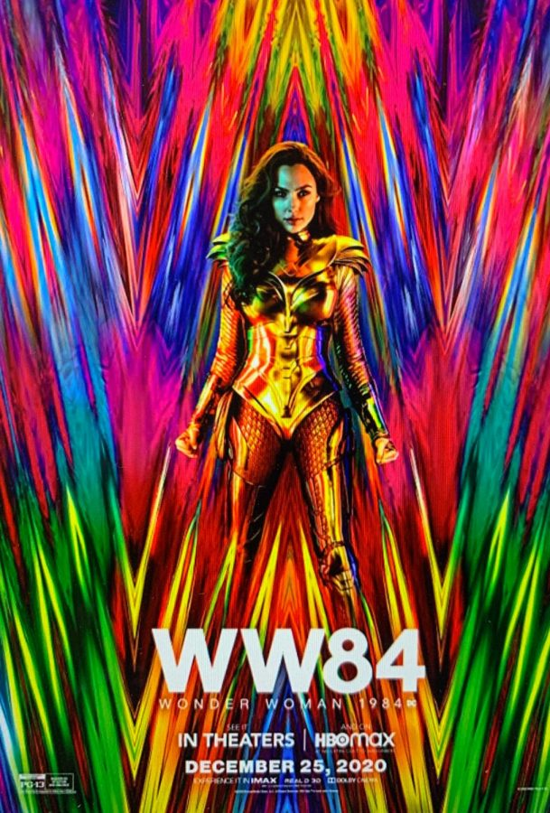 The Wonder Woman 1984 film poster featuring Gal Gadot.