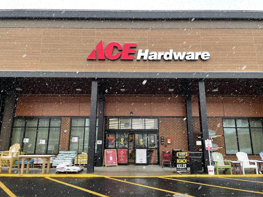 Ace Hardware stayed open throughout the pandemic, and continues to stay open in snow or shine!