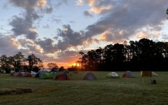 An early morning start at one of Troop 20's recent campouts