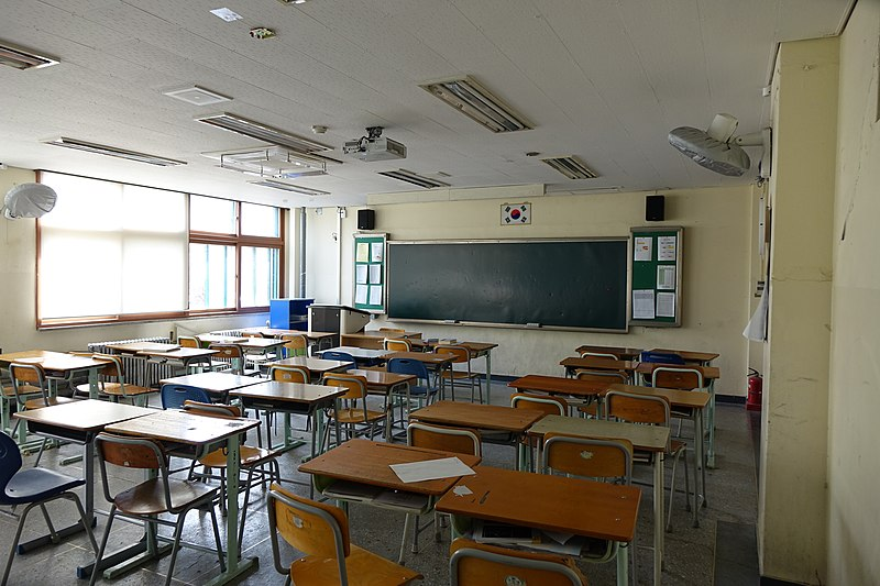 The majority of South Korean students attend school for 8 hours and also attend
