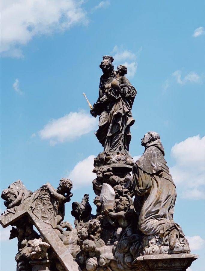 Statuary along the St Charles Bridge!