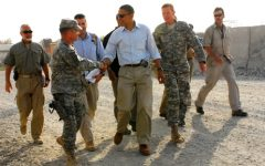 Senator Barack Obama meets with troops during his visit to Foward Operating Base Fenti, Afghanistan, July 19.
