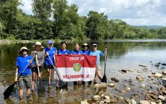 Troop 20 celebrates earning their 50 mile patch, by traveling 50 miles exclusively using their own power