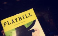 The brochure from the musical Wicked.